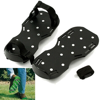 Lawn Care Garden Lawn Shoe Aerator Aerating Sandals 13x5cm Spiked Easy Strap On