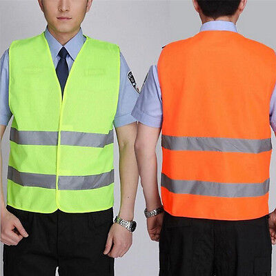 10pcs Night Work Reflective Vest Security Safety Gear Stripes High Visibility