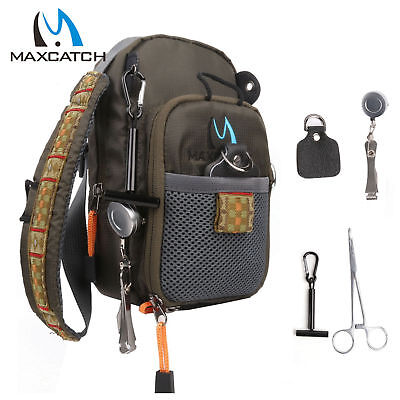 Maxcatch Fly Fishing Chest Bag/Outdoor Sports Fishing Pack, Nipper,Forceps Combo