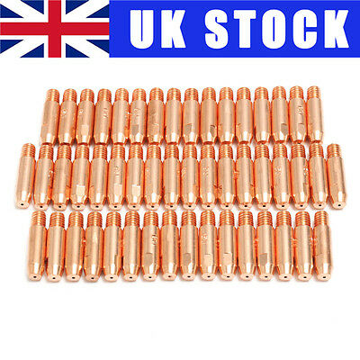UK 50Pcs Copper Welding Gas Nozzle Contact Tips Adaptor For MB24 MIG/MAG Torch