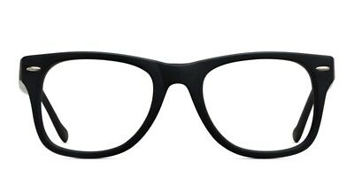 Unisex Wayfare Non-prescription Glasses Frame Clear Lens Eyeglasses - Black