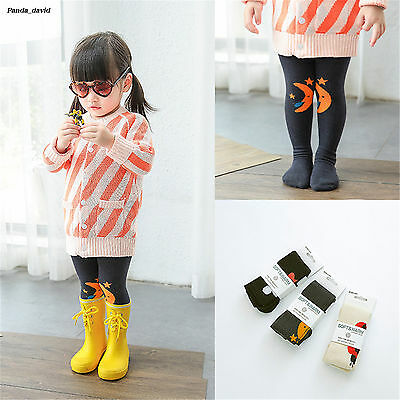 Fall Cartoon Orange Moon Baby Tights Lovely Girls Cotton Toddlers Pantyhose