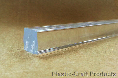 "Clear Extruded Acrylic Square Rod 1/4"" x 9.25"" Long -  Pack of 180"