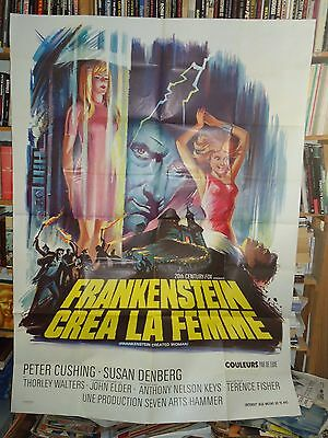 HAMMER/FRANKENSTEIN CREATED WOMAN/ ORIG french poster