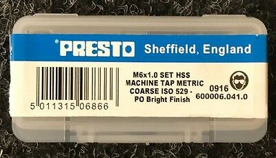Presto 3pc HSS Tap Sets
