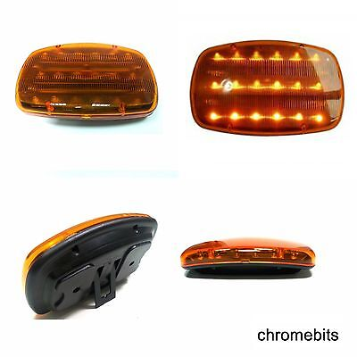 12V Amber LED Car Roof Lightbar Magnetic Flashing Recovery Beacon Light Strobe