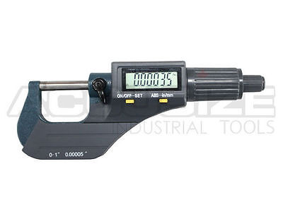 "0-1"" x 0.00005"" 2 Keys Electronic Digital Outside Micrometer, #MD71-0001B"