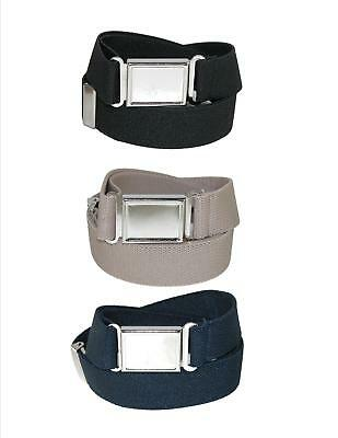 New CTM Kids' Elastic Adjustable Belt with Magnetic Buckle (Pack of 3 Colors)