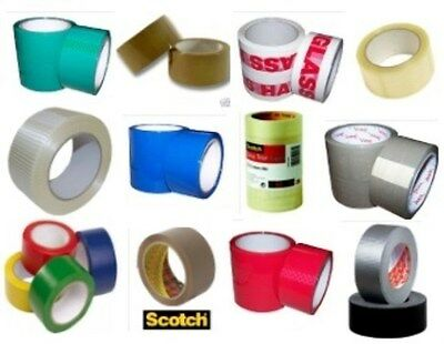 Packaging Parcel Packing Tapes 25mm 48mm Clear Brown Scotch PVC Fragile Printed