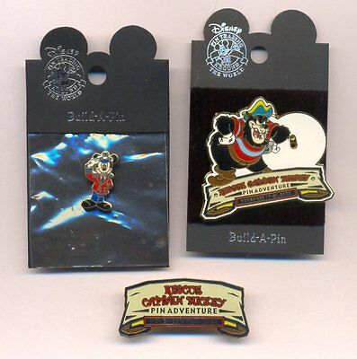 DCL Rescue Captain Mickey Pin Event 3 Pins Big Pete Base + Completer + Add-On
