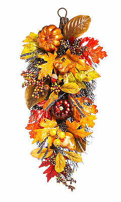 Cypress Home Holiday Harvest Wall Hanging Floral Decor