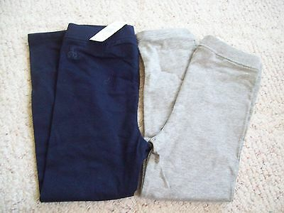 GAP KIDS Baby girl's * 2 NAVY BLUE / GREY LEGGINGS PANTS BRAND NEW NWT * sz. 4t