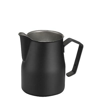 Motta Stainless Steel Professional Milk Frothing Pitcher Cup/Jug Black 17oz
