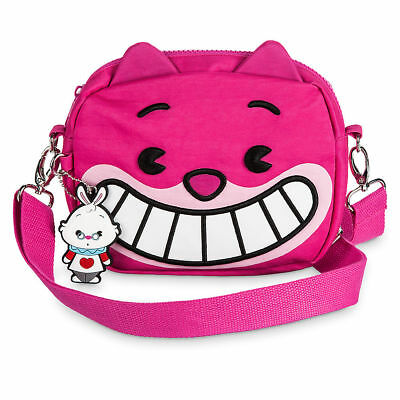 NEW with tags DISNEY Cheshire Cat MXYZ Convertible Bag PURSE WASTE   PINK WINK