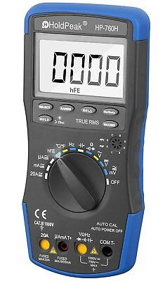 HOLDPEAK 760H Digital Auto-Ranging LCD Multimeter With Diode, hFE And Continuity