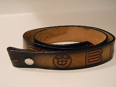 "Vintage BMW Leather Belt!  Approx. 32-34"" Waist"