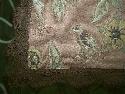 Antique French PARIS APARTMENT SILK BROCADE Tapestry Lace Doily