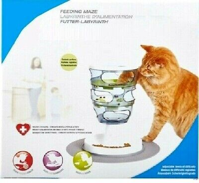 FEEDING MAZE - Cat Food Puzzle Bowl bp PawMits Pet Senses It Active Fun Feed Toy