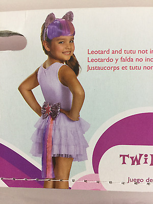 Disguise My Little Pony Costume Twilight Sparkle Headpiece Tail NWT Girls 2Pc