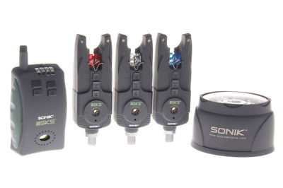Sonik SKS Alarm & Receiver Set with Free Bivvy Light