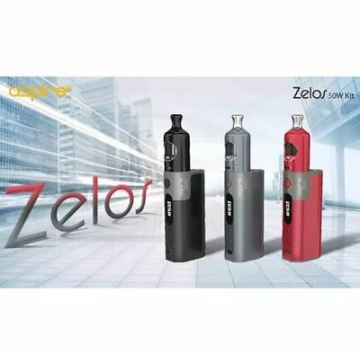 Aspire Zelos 50W Kit- 3 COLOURS- BLACK-GREY-RED- 100 % AUTHENTHIC