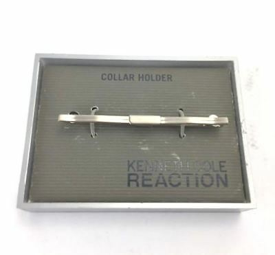 Kenneth Cole Reaction Men's Collar Holder Silver-tone