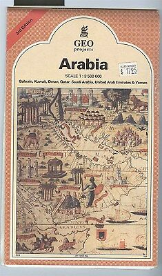 GEO Projects map ARABIA pennisula 1:3500000 1996