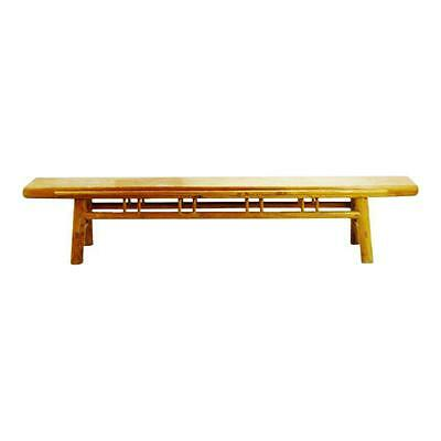 Early Chinese Shanxi circa 1850 Elmwood Bench 8'8""