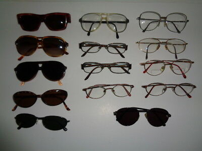 Vintage Sunglasses Eyeglasses Metal & Plastic Frames Lot of 14 Pair