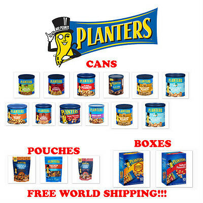 Planters Peanuts : Various Styles And Flavors Too Choose!! Free World Shipping!!