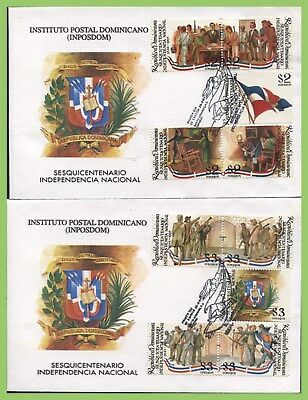 Dominican Republic 1994 150th Anniv of Independence set on two First Day Covers