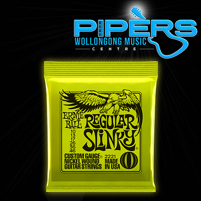 Ernie Ball 10-46 Regular Slinky Lime 2221 10/46 Electric Guitar Strings Set