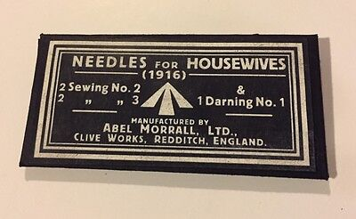 "WW1 - Needle Pack for Soldier's Housewife - ""Hussif"" - Reproduction"