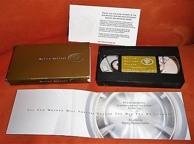 VHS Original 1997 MAYTAG NEPTUNE – MAYTAG APPLIANCE PROMO In Box with Inserts