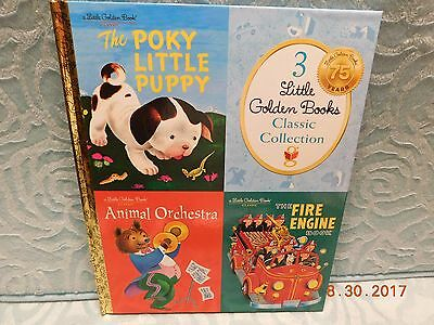 3 Little Golden Books Classic Collection in 1 Book NEW