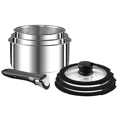 Tefal Ingenio 11 Piece Stackable Stainless Steel Cookware Set - RRP $399.95