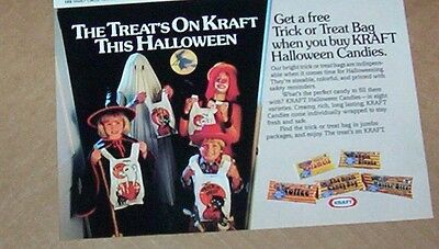 1986 vintage ad - Kraft Foods Halloween candy kids trick treat PRINT Advertising