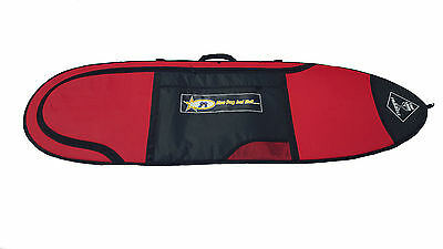 Surfboard Travel Cover Board Bag Fun Board Fish 5'8 10mm Red