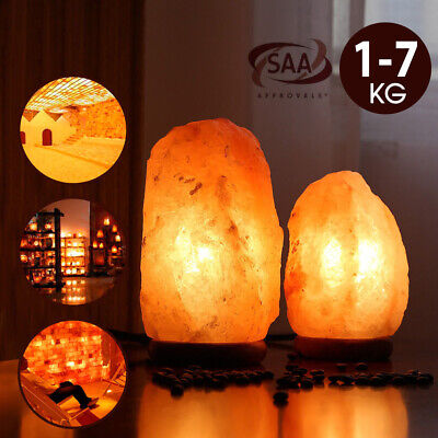 Himalayan Salt Lamp Natural Crystal Rock Shape Dimmer Switch Night Light 1-5 kg