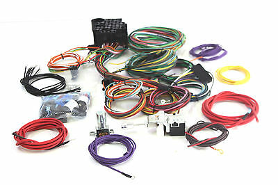 Hot Rod Eazy Wiring Harness 22 Circuit Complete A To Z + H/light & Dipper Switch