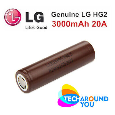 LG HG2 18650 3000mAh 20A HIGH DRAIN rechargeable Lithium Vape VAPING mod battery