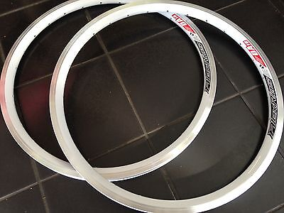 "Alex Rims - DA16 White 16"" BMX Rims Pair"