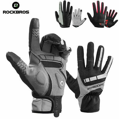 RockBros Cycling Gloves Long Full Finger Bike Touch Screen Anti-Skid Glove