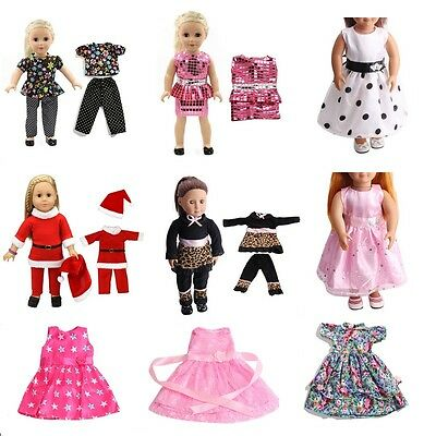 Fashion Handmade Clothes Dress for 18 inch American Girl Dolls Party Clothes New