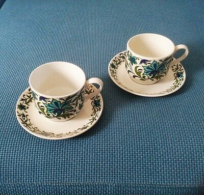 Jessie Tait Midwinter Spanish Garden Tea Cups Saucers X 6