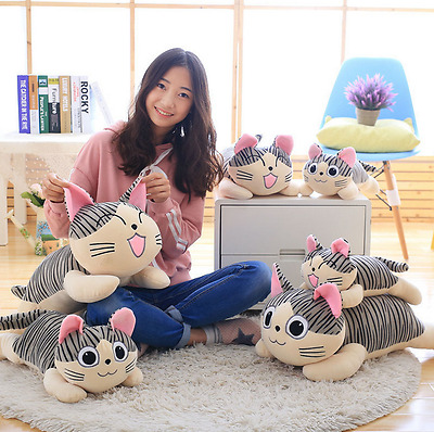 Home Decor Plush Cat Pillows Cotton Cushion Covers Cartoon Girls Toy Gifts Hot