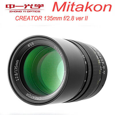 Zhongyi Mitakon CREATOR 135mm f/2.8 II for Nikon F Full Frame Prime Telephoto