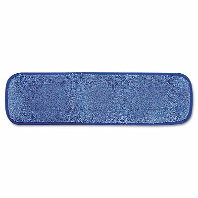 Rubbermaid Commercial HYGEN Microfiber Damp Room Mop Pad, 18-Inch, Blue