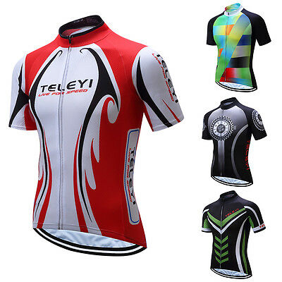 FP- TELEYI Men Bike Bicycle Cycling Quick Dry Breathable T-Shirt Top Jersey Eyef