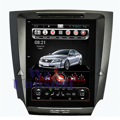 """10.4"""" vertical screen Android car GPS Navigation For Lexus IS250 IS300 Stereo"""